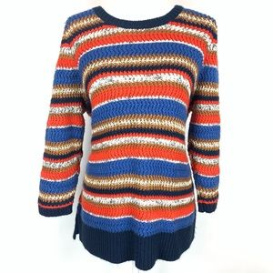 Lane Bryant Retro 70s Zigzag Knit Chunky Sweater